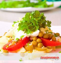 рецепты салатов на день рождения подсолнух