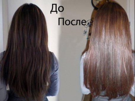 мелирование черных волос до и после фото