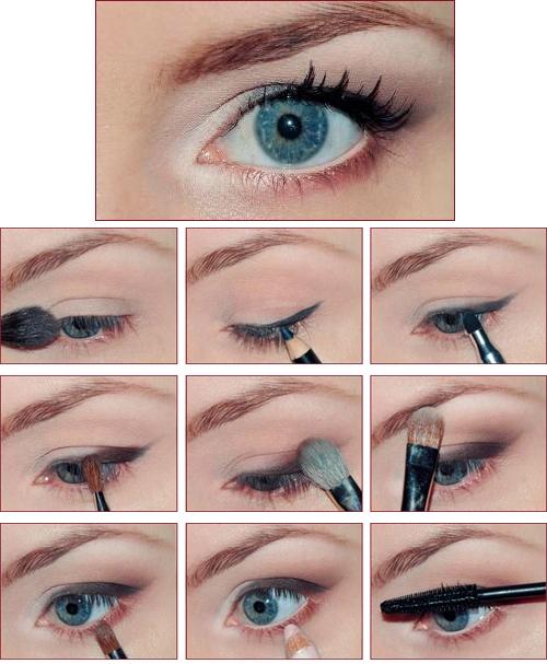 Модный макияж глаз с нависшими веками, фото