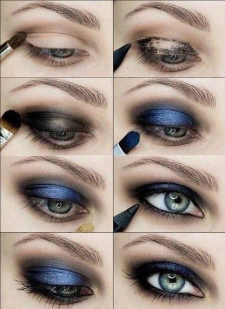 Мастер класс макияжа для голубых глаз