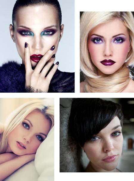 фото макияж для голубых глаз с фиолетовыми тенями