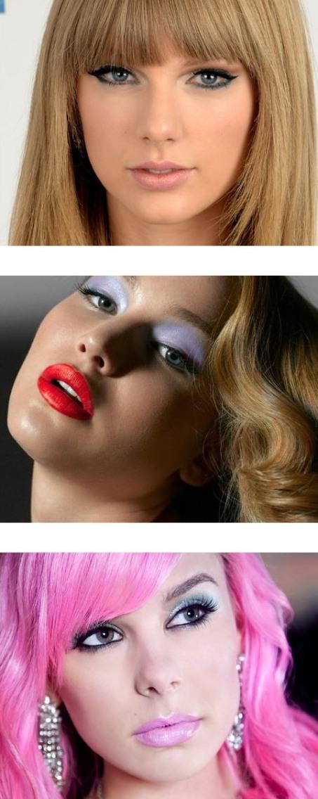 фото макияж для голубых глаз с голубыми и синими тенями