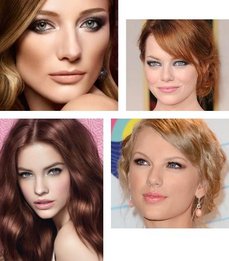 фото макияж для голубых глаз с серыми и серебрянными тенями, смоки айс