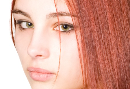 Макияж для рыжих волос: для зеленых глаз