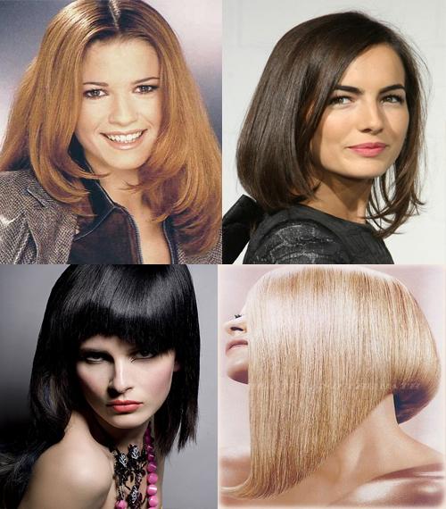 модные прически на средниедлинные волосы 2014