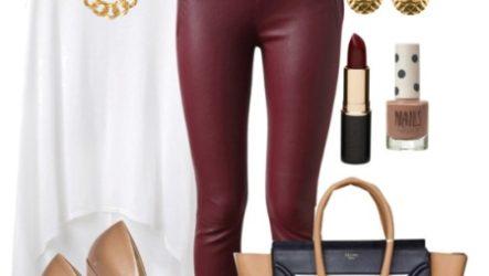 С чем носить кожаные брюки? Выбираем удачный верх!