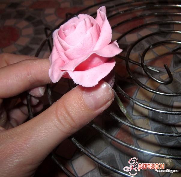 розы из мастики своими руками, фото