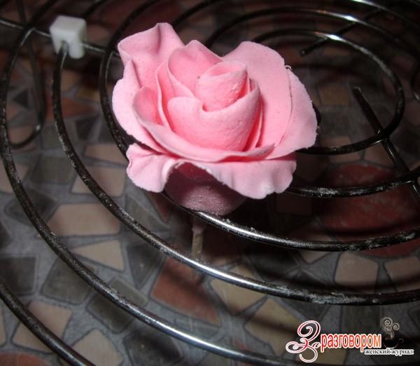 роза из мастики пошагово, фото