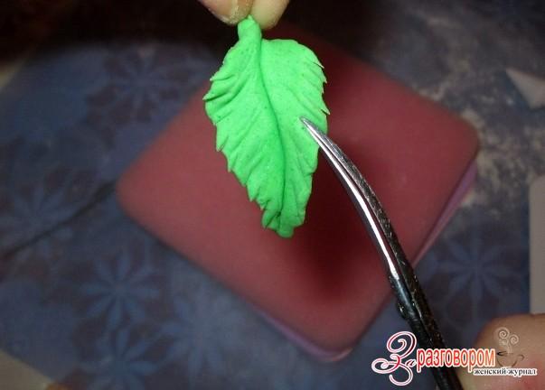 Как сделать листья из мастики своими руками