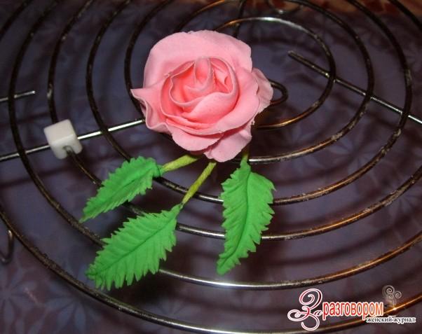 розы из мастики мастер класс с фото