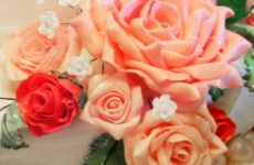 Мастер-класс по созданию бутонов и листьев роз из мастики (для букета на торт)