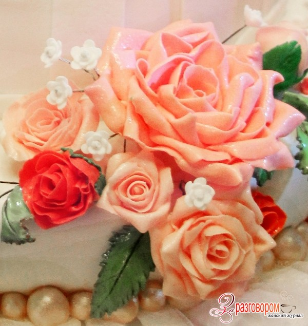 букет роз из мастики, фото