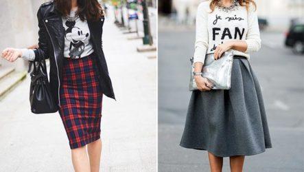 С чем носить модную юбку миди?