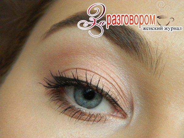 повседневный макияж для серых глаз, фото