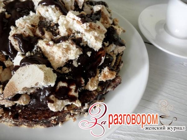 Торт «Графские развалины» с шоколадным кремом, фото