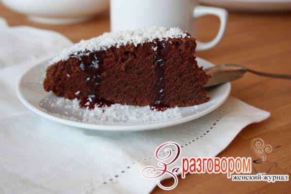 Шоколадный вегетарианский пирог, фото