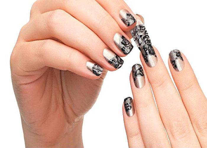 Наклейки на длинные ногти