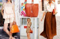 С чем носить рыжую сумку — модные образы