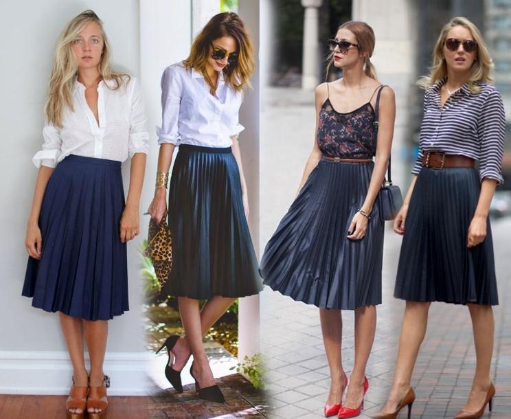 Чем можно одеть юбку плиссе