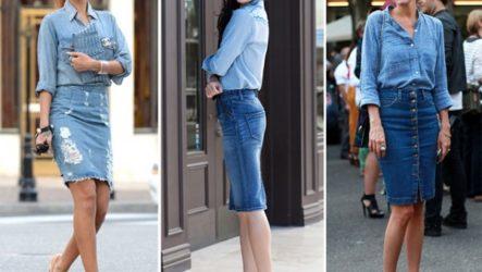 С чем носить модную джинсовую юбку?