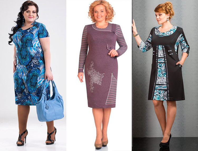 Летние платья из трикотажа для полных женщин