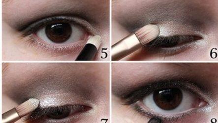 Модный макияж глаз с нависшими веками
