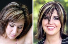 Модное мелирование на черные волосы