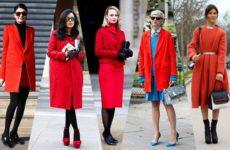 С чем носить красное пальто — удачные сочетания