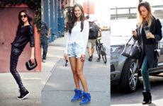 С какой одеждой носить кеды — модные фото — образы