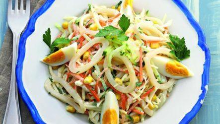 Новогодние салаты с кальмарами — 4 вкусных рецепта